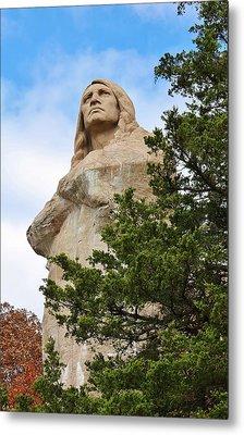 Chief Blackhawk Statue Metal Print by Bruce Bley