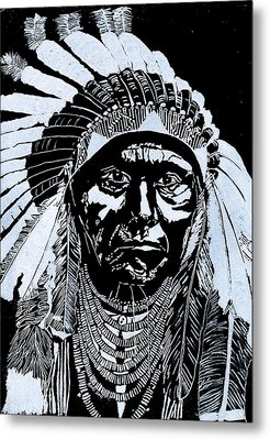 Chief Joseph Metal Print by Jim Ross