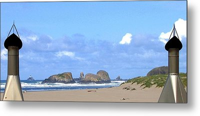 Chimneys Of Cannon Beach Metal Print by Will Borden