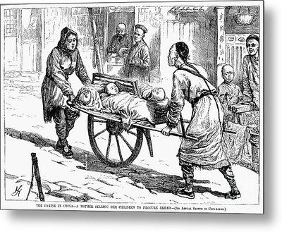 China: Famine, 1877 Metal Print by Granger