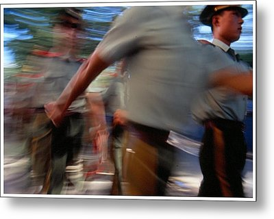 China On The March Metal Print by Anthony Silver