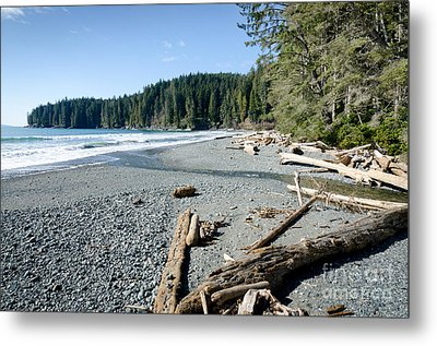 China Wide China Beach Juan De Fuca Provincial Park Vancouver Island Bc Canada Metal Print by Andy Smy
