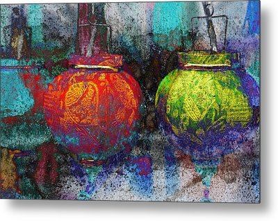Chinese Lanterns Metal Print by Skip Nall