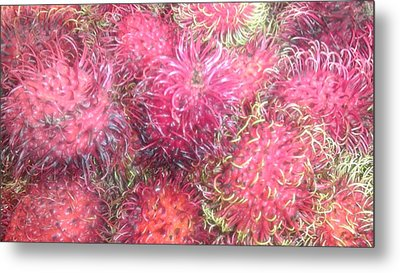 Chinese Plums  Metal Print by Paul SEQUENCE Ferguson             sequence dot net
