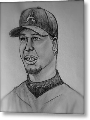 Chipper Jones Metal Print by Pete Maier