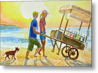 Choose Your Flavor Metal Print by Vic Delnore