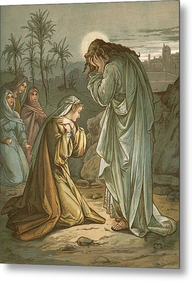 Christ In The Garden Of Gethsemane Metal Print by John Lawson