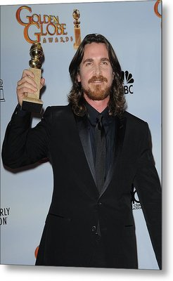 Christian Bale In The Press Room Metal Print by Everett
