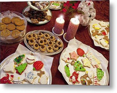 Christmas Cookies Metal Print by Will & Deni McIntyre