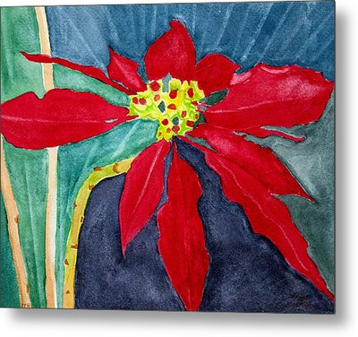 Christmas Flower Metal Print by Charlotte Hickcox