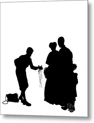 Christmas Gift - A Silhouette 1a Metal Print by Reggie Duffie