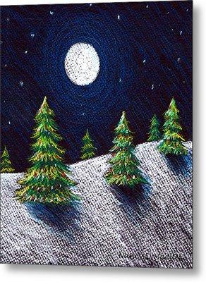 Christmas Trees II Metal Print by Nancy Mueller