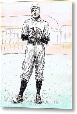 Christy Mathewson Metal Print by Mel Thompson