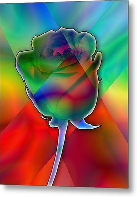 Chromatic Rose Metal Print by Anthony Caruso
