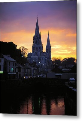 Church In A Town, Ireland Metal Print by The Irish Image Collection