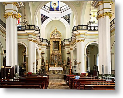 Church Interior In Puerto Vallarta Metal Print by Elena Elisseeva