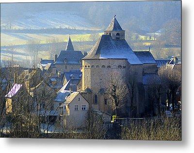 Church, Sainte Eulalie D'olt Metal Print by Copyrights by Sigfrid López