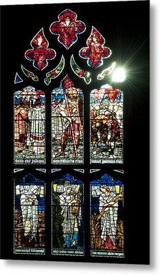Church Window I Metal Print by Svetlana Sewell