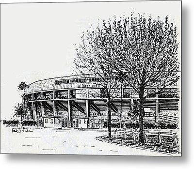 Cincinnati Reds/al Lopez Stadium Tampa Florida Metal Print by Frank Hunter