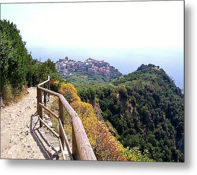Cinqre Terre Corniglia From The Trail Metal Print by Marilyn Dunlap