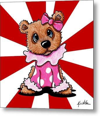 Circus Bear Cutie Metal Print by Kim Niles