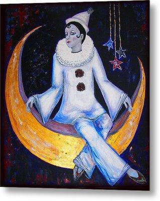 Cirque De La Lune Metal Print by Barbara Jean Lloyd