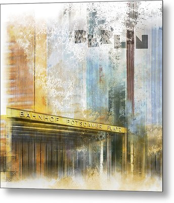 City-art Berlin Potsdamer Platz Metal Print by Melanie Viola