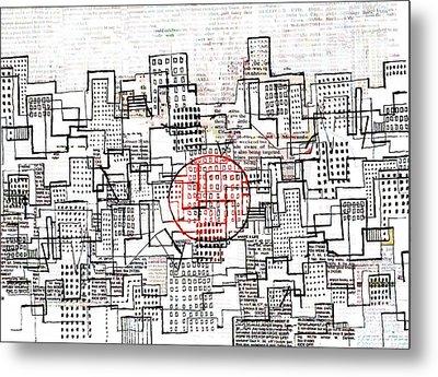 City Lines II  Metal Print by Andy  Mercer