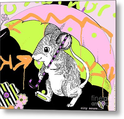 City Mouse Baby Licensing Art Metal Print by Anahi DeCanio