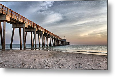 City Pier Metal Print by Sandy Keeton