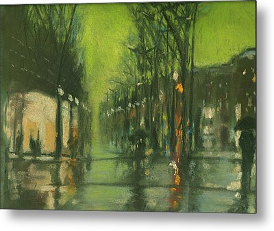 City Rain 6 Metal Print by Paul Mitchell