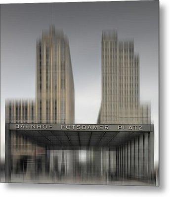 City-shapes Berlin Potsdamer Platz Metal Print by Melanie Viola
