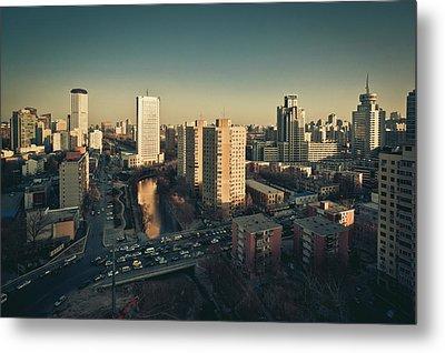 Cityscape Of Beijing, China Metal Print by Yiu Yu Hoi