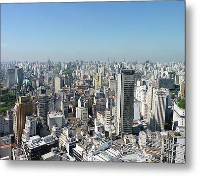 Cityscape Of São Paulo Metal Print by Felipe Borges