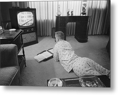 Civil Rights, Classes On Television Metal Print by Everett