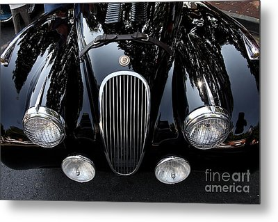 Classic Black Jaguar . 40d9322 Metal Print by Wingsdomain Art and Photography