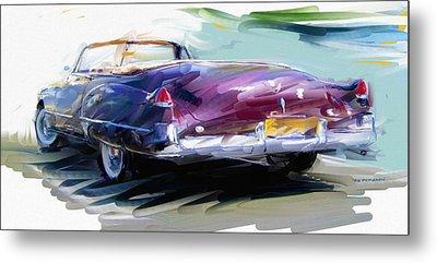 Classic Cadillac Convertible  Metal Print by RG McMahon