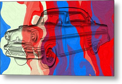 Classic Mercury Abstract Metal Print by David G Paul