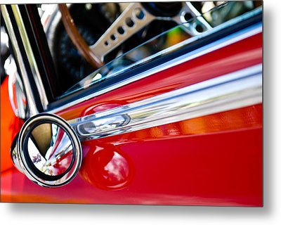 Classic Red Car Artwork Metal Print by Shane Kelly