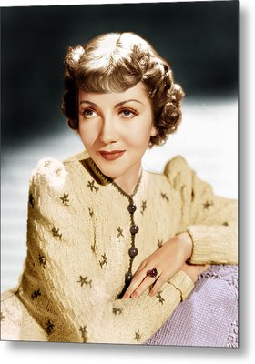 Claudette Colbert, Ca. 1939 Metal Print by Everett