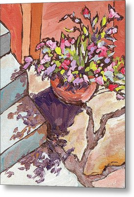Clay Pot Metal Print by Sandy Tracey