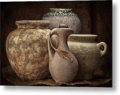 Clay Pottery I Metal Print by Tom Mc Nemar