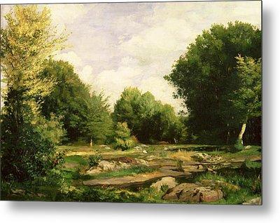 Clearing In The Woods Metal Print by Pierre Auguste Renoir