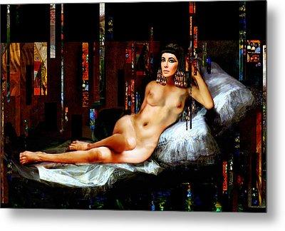 Cleopatra Nude Metal Print by Karine Percheron-Daniels