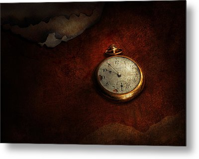 Clock - Time Waits For Nothing  Metal Print by Mike Savad