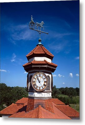 Clock Tower And Weathervane, Longview Metal Print by Everett