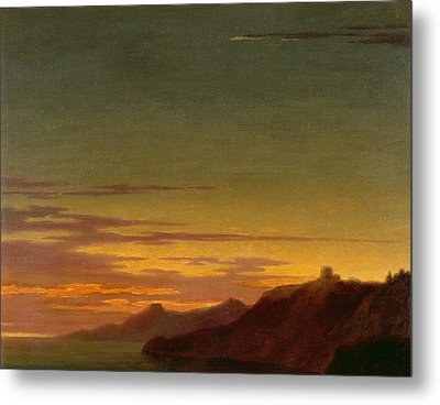 Close Of The Day - Sunset On The Coast Metal Print by Alexander Cozens