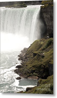 Close To The Falls Metal Print by Amanda Barcon