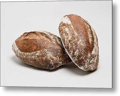 Close Up Of Loaves Of Bread Metal Print by Henn Photography