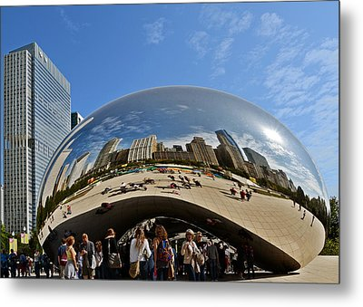 Cloud Gate - The Bean - Millennium Park Chicago Metal Print by Christine Till
